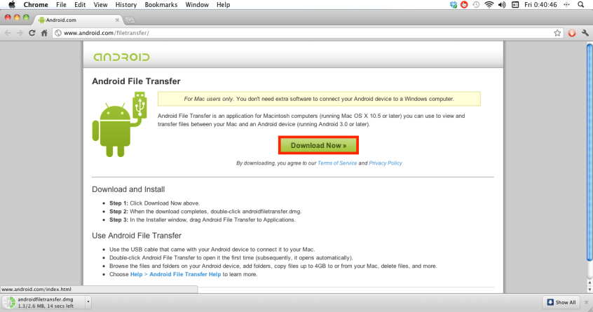 download file transfer for android