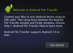 Android File Transfer app directions.