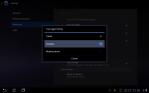 Tap Desktop in dialog menu.