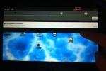 CyanogenMod 7 - tap the clock.