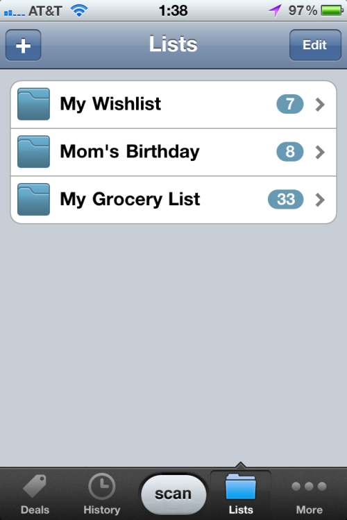 Wish lists of items.
