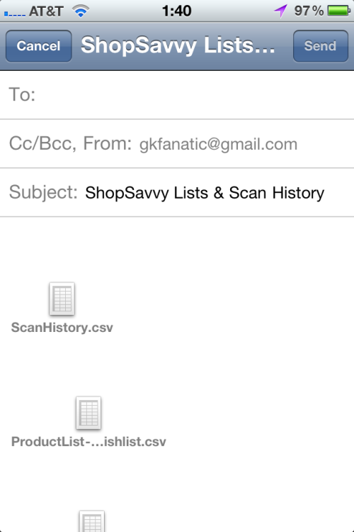 Emailing lists and history.
