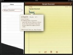 iPad Notes - word definition.