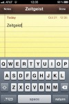 iPhone Notes - select a word.
