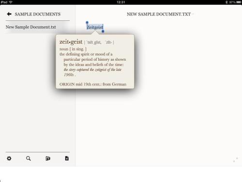 PlainText - word definition.