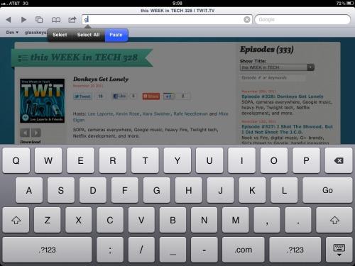 Type G then paste the copied URL.