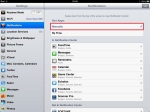 Notifications category - enable manual sorting.