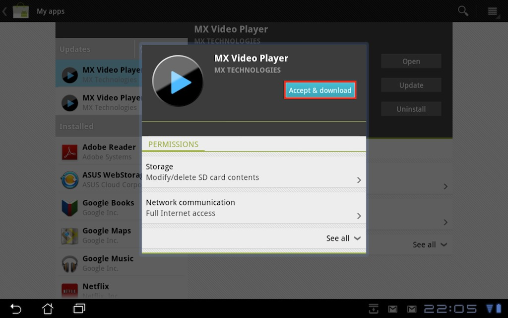 How to view H 264 and MP4 (MPEG 4) videos on Android tablets