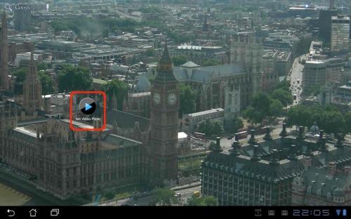MX Video Player app.