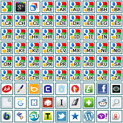 Referrer icons.