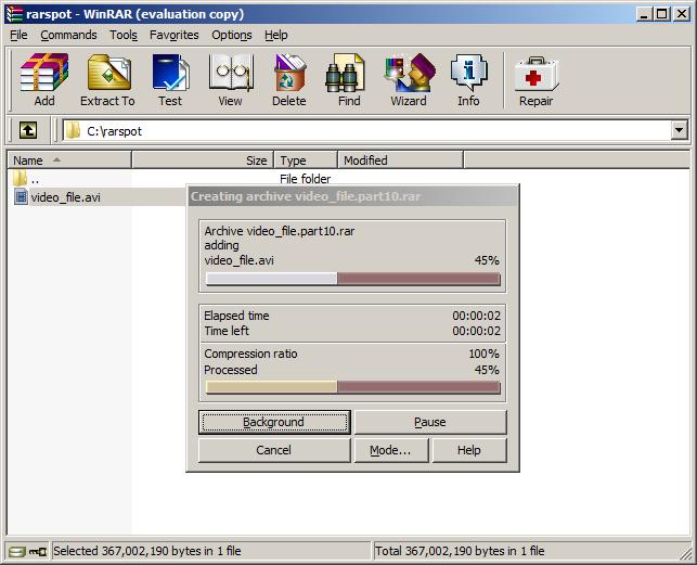 how to change rar file