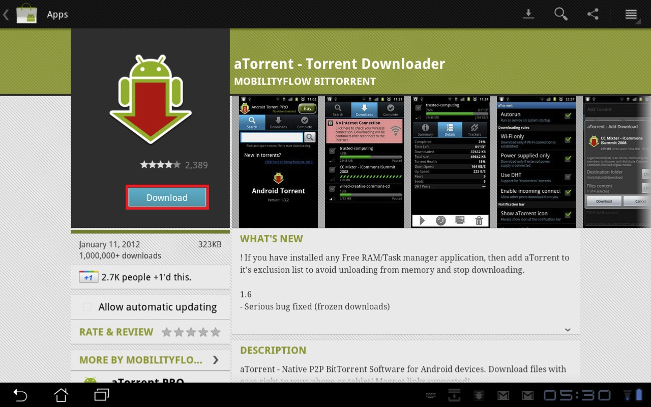 atorrent the bittorrent client for android glasskeys