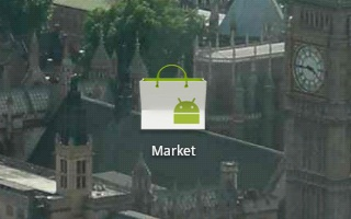 Android Market app.