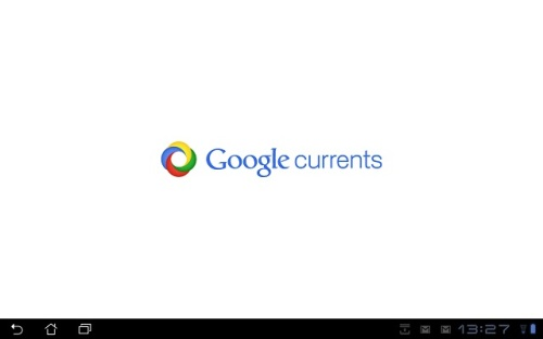 Google Currents 'Splash Screen'.