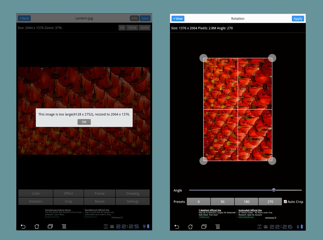 Nine photo editor apps reviewed on an Android tablet – part