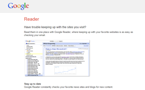 Google Reader - No Mas.