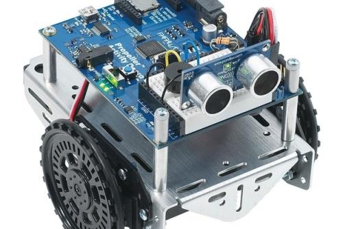 A microcontroller powered robot!