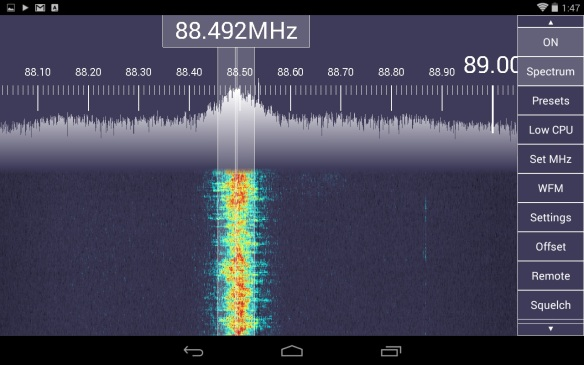Software Defined Radio on Android and Windows tablets