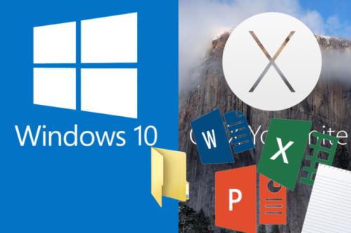 Share Windows 10 files with Mac OS X
